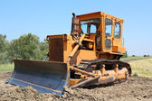 Construction site with bulldozer — Stock Photo