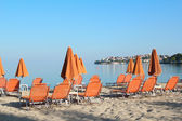 Morning on beach Neos Marmaras Greece — Stock Photo