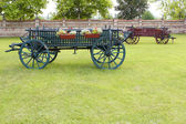 Old coach vintage farm scene — Stock Photo