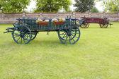 Oude coach vintage boerderij scène — Stockfoto