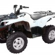Stock Photo: White 4x4 atv isolated