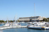 Porto Carras port with yachts and boats — Stock Photo