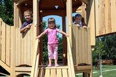 Tres niños — Foto de Stock