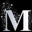 Stock Photo: Capital letter M