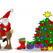 Stock Photo: Santa Claus Christmastree
