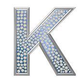 Diament znak k — Zdjęcie stockowe