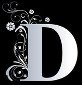 Capital letter D — Stock Photo