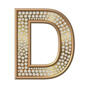 Diamond Character D — Stock Photo