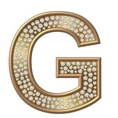 Diamond Character G — Stock Photo