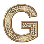 G de caractere de diamante — Fotografia Stock