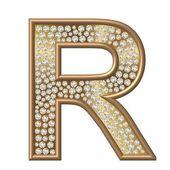 Diamond Character R — Foto Stock