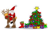 Santa Claus Christmastree — Stock Photo