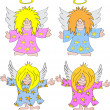 Angel Cartoon — Stock Vector
