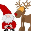 Stock Vector: Santa Claus Reindeer