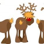 Rudolph reindeer — Stock Vector