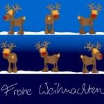 Xmas card Frohe Weihnachten — Stock Vector