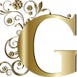 Capital letter G gold — Stock Vector #6058365