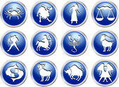 Set of zodiac signs — Wektor stockowy
