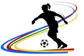 Vrouwelijke voetballer — Stockvector