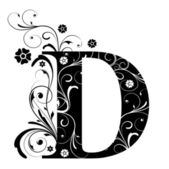 Letter Capital D — Stock Vector