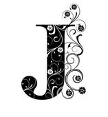 Letter Capital J — Vector de stock