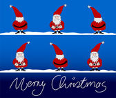 Xmas card vrolijk kerstfeest — Stockvector