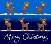 Xmas card merry christmas — Stock Vector