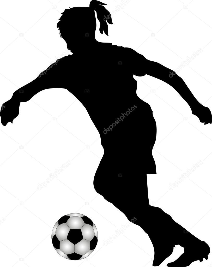 Female soccer player — Stock Vector #6057004