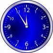 Blue Clock — Vector de stock