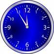 blå klocka — Stockvektor