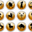 Set of zodiac signs — Stockvektor