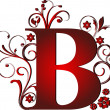 Capital letter B red — Stock Vector