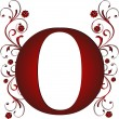 Capital letter O red — Stock Vector #6072153