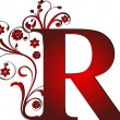 Capital letter R red — Stock Vector