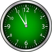 Green Clock — Stock Vector