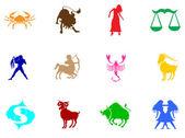 Zestaw znaków zodiaku — Wektor stockowy