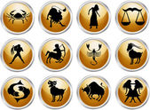 Set of zodiac signs — 图库矢量图片