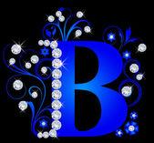 Capital letter B blue — Stock Vector