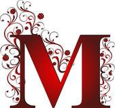 大写字母 m 红色 — 图库矢量图片