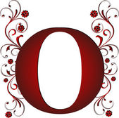 Capital letter O red — Stock Vector