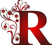 Capital letter R red — Stockvector