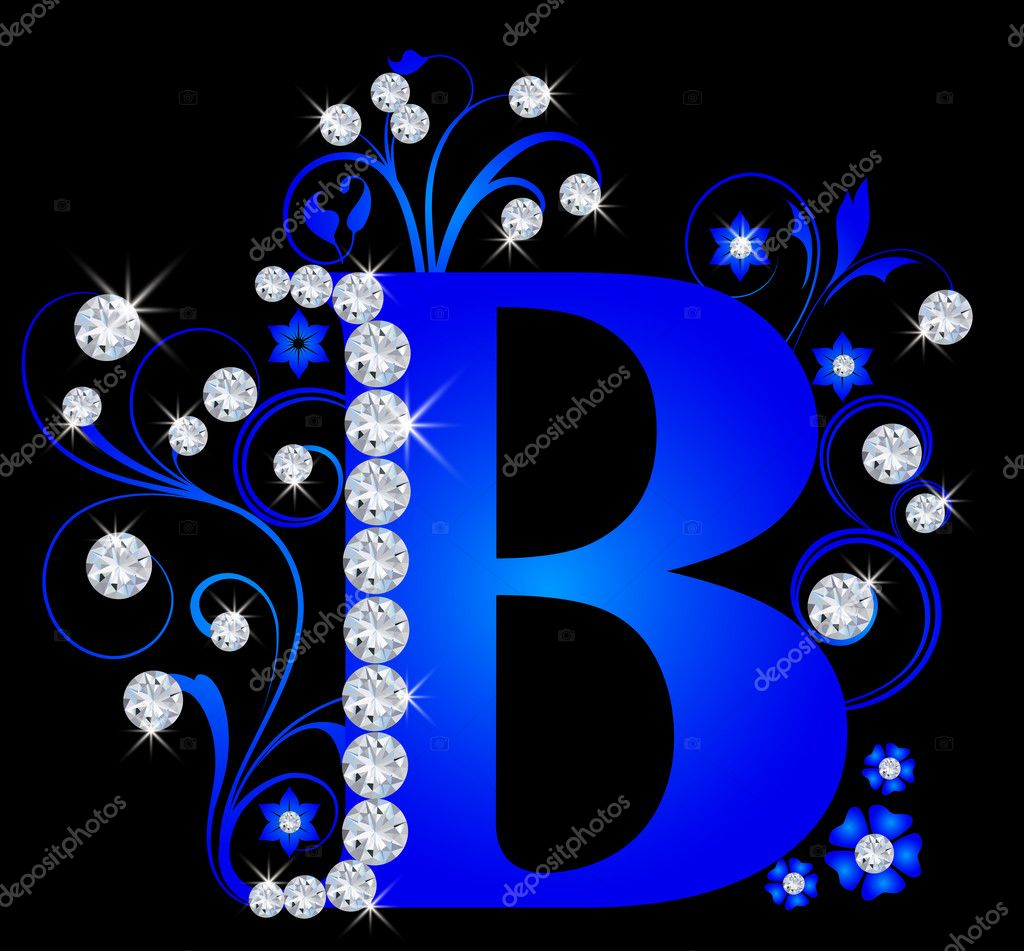 Capital letter B blue    #6072095