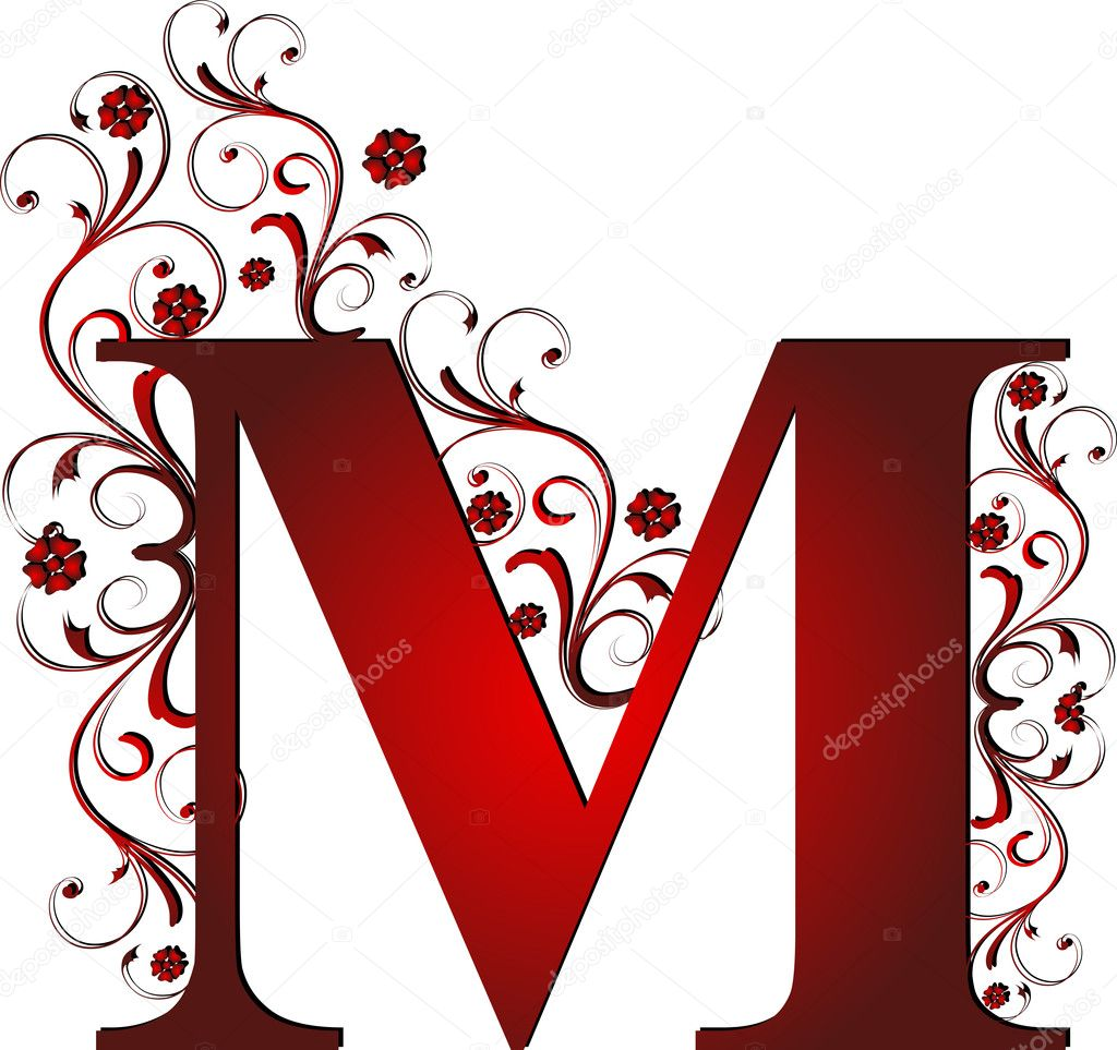 Capital letter M red  Vettoriali Stock  #6072149