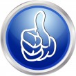 3D button thumb up — Foto de Stock