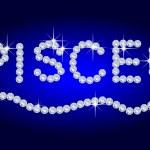Diamond Zodiac Pisces — Stock Photo