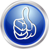 3d knop duim omhoog — Stockfoto