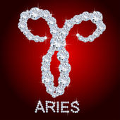 Diamond Zodiac Aries — Stockfoto