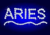 Diamond Zodiac Aries — Stock Photo