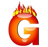 Letter G on Fire — Stock Photo