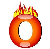 Letter O on Fire — Stock Photo